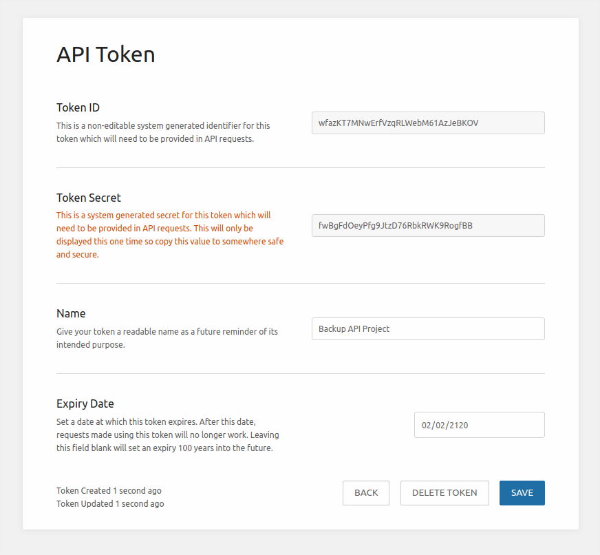 API Token Generation